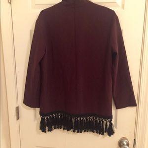Zara Tops - Zara Mock Neck Fringe Tunic